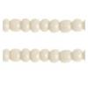 Seedbead Opaque Pearl Eggshell 13/0 Strung